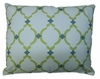 Green Lattice Outdoor Pillow