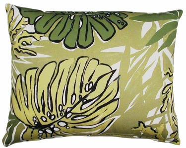 Green Leaves Outdoor Pillow - Click to enlarge