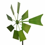 Green Metal Windmill