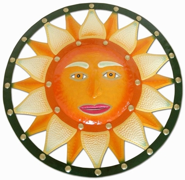 Green Orange Sun Wall Decor - Click to enlarge