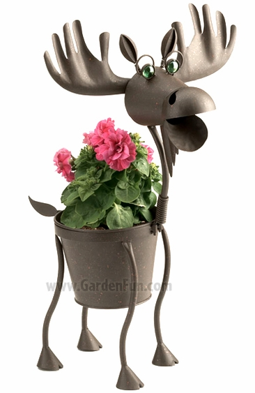 Hal the Metal Moose Planter - Click to enlarge