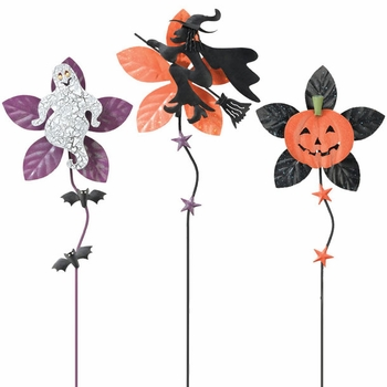 Halloween Metal Flowers (Set of 3) - Click to enlarge