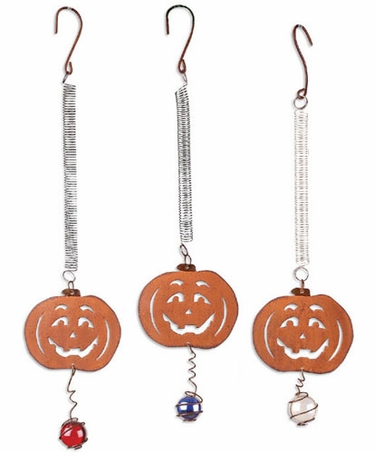 Halloween Pumpkin Bouncies (Set of 3) - Click to enlarge