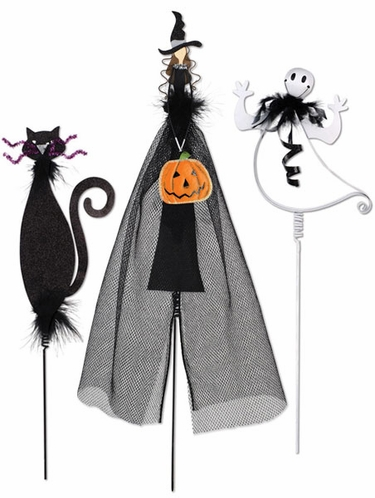 Halloween Pumpkin Decorations (Set of 3) - Click to enlarge