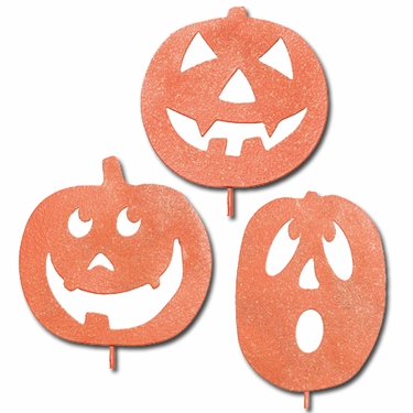 Halloween Pumpkin Stakes (Set of 3) - Click to enlarge