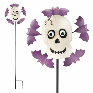 Halloween Skull Garden Spinner - Click to enlarge