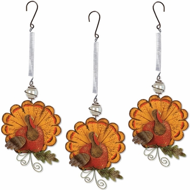 Hanging Turkey Bouncies (Set of 3) - Click to enlarge