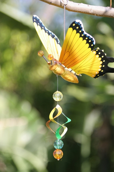Hanging Yellow Butterfly Bouncer - Click to enlarge
