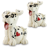 Happy Dogs Statues (Set of 2)