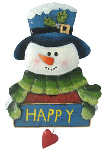 Happy Love Snowman Wall Decor - Click to enlarge
