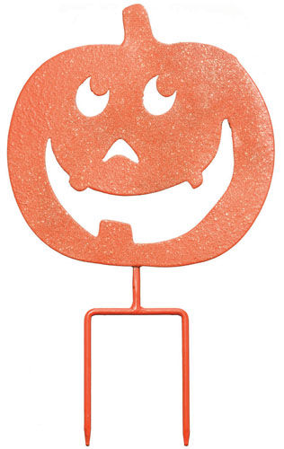 Happy Pumpkin Stake / Sign (Set of 3) - Click to enlarge
