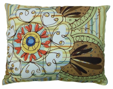 Henna Art Outdoor Pillow - Click to enlarge