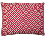 Hip Squares Red Outdoor Pillow