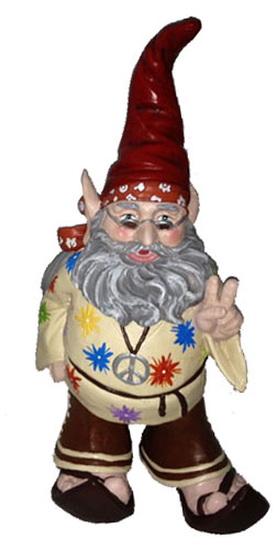 Hippie Dude Gnome - Click to enlarge