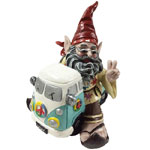 Hippie Gnome in VW Bus