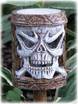 Holiday Garden Tiki Stakes - Skull (Set of 4) - Click to enlarge