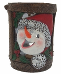 Holiday Garden Tiki Stakes - Snoman (Set of 4)