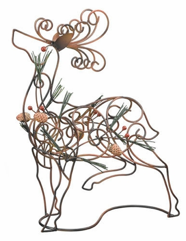 Holiday Metal Deer Decor - Click to enlarge