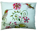 Hummingbird Love Outdoor Pillow