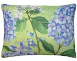 Hydrangea w/Leaves Outdoor Pillow