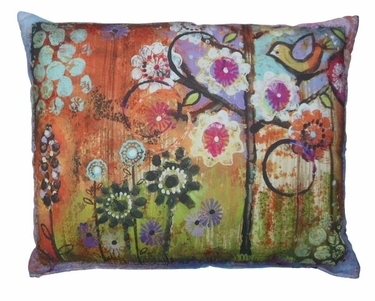 Impressions of Nature: Bird in Heart Outdoor Pillow - Click to enlarge