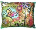 Impressions of Nature: Butterfly Outdoor Pillow