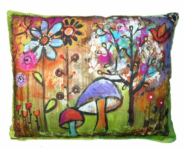 Impressions of Nature: Mushroom Outdoor Pillow - Click to enlarge