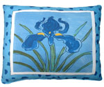 Iris Blue Outdoor Pillow