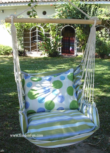 Iris Garden Hammock Chair Swing Set - Click to enlarge