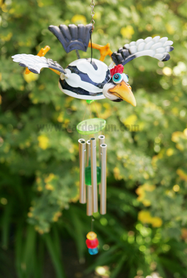 Ivory Woodpecker Wind Chime - Click to enlarge