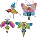 Jeweled Bug Garden Stakes (Set of 4)