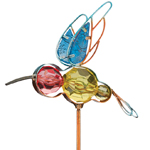 Jeweled Hummingbird Stakes (Set of 6)
