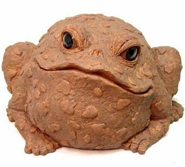 Jumbo Toad Statue - Coffee - Click to enlarge