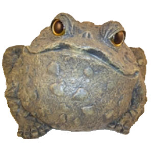 Jumbo Toad Statue - Dark Natural - Click to enlarge