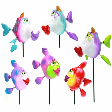 Kissing Fish Garden Stakes (Set of 6) - Click to enlarge