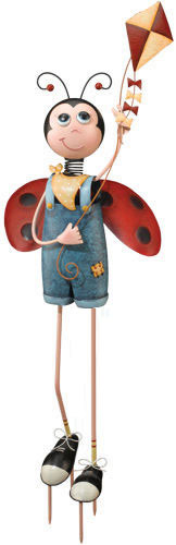 Ladybug Boy Garden Decor - Click to enlarge