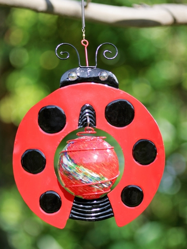 Ladybug Design Art Glow Catcher - Click to enlarge