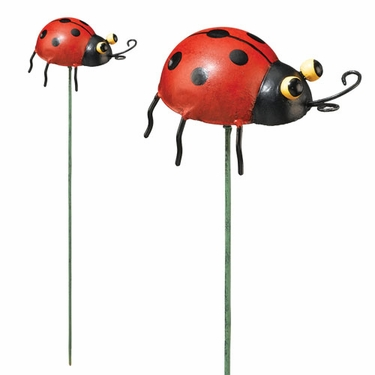 Ladybug Garden Stakes (Set of 6) - Click to enlarge