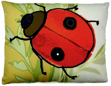 Ladybug Outdoor Pillow - Click to enlarge