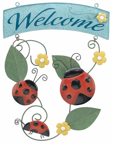 Ladybug Welcome Sign - Click to enlarge