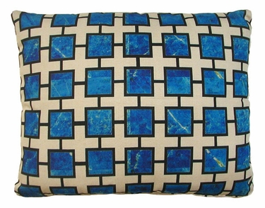Lapis Blue Outdoor Pillow - Click to enlarge