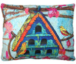 Large Birdhouse Outdoor Pillow