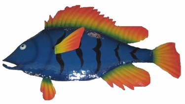 Large Blue Quill Fish Wall Art - Click to enlarge