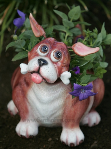 Large Dog Phatzo Planter - Click to enlarge