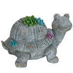 Large Flower Turtle Statue