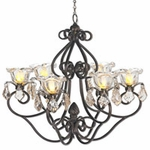 Large Hannah Series Chandelier - Bronze