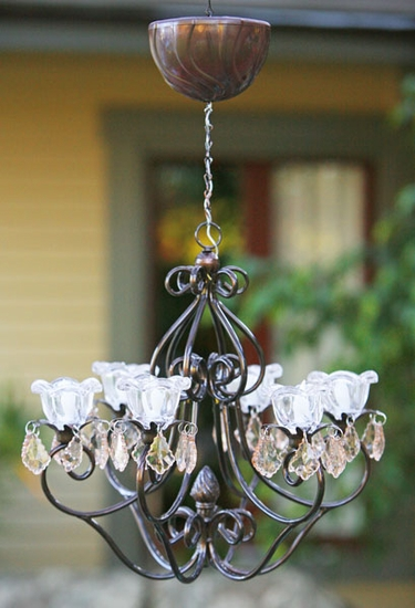 Large Hannah Series Chandelier - Bronze - Click to enlarge