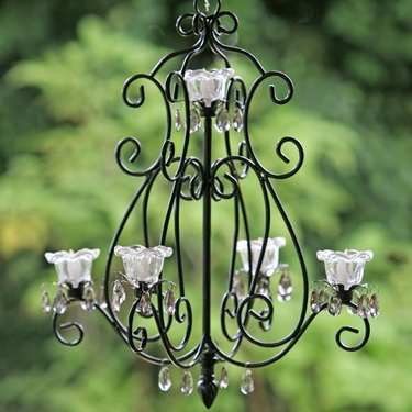 Large Layni Series Chandelier - Black - Click to enlarge