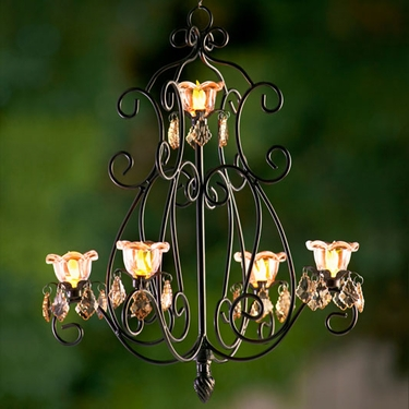 Large Layni Series Chandelier - Bronze - Click to enlarge