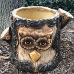 Large Owl Planter Tree Face Flower Pot